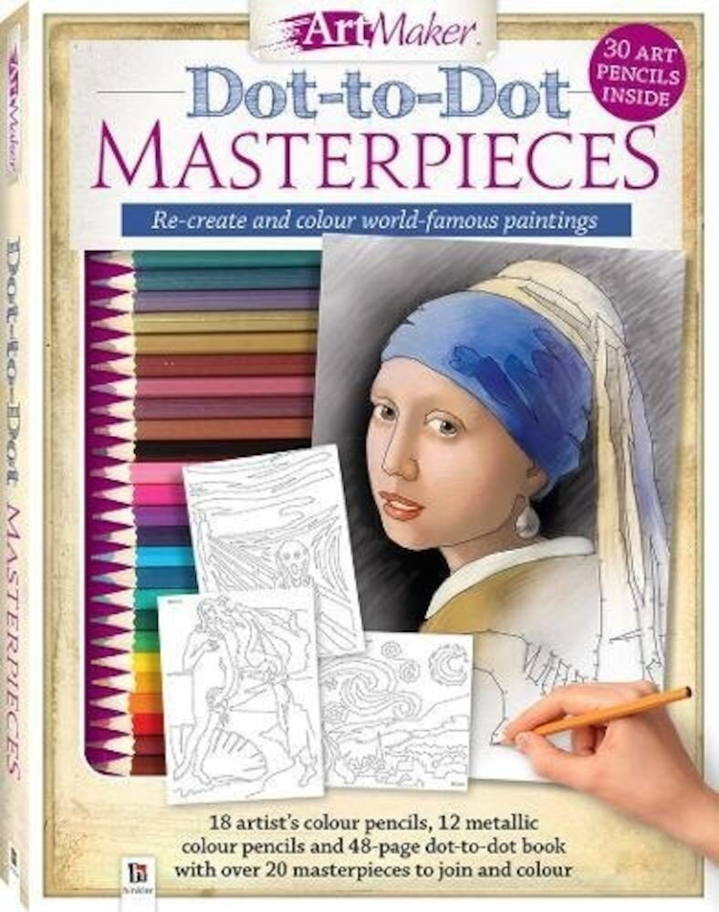 Art Maker Dot-to-Dot Masterpieces Kit (portrait)