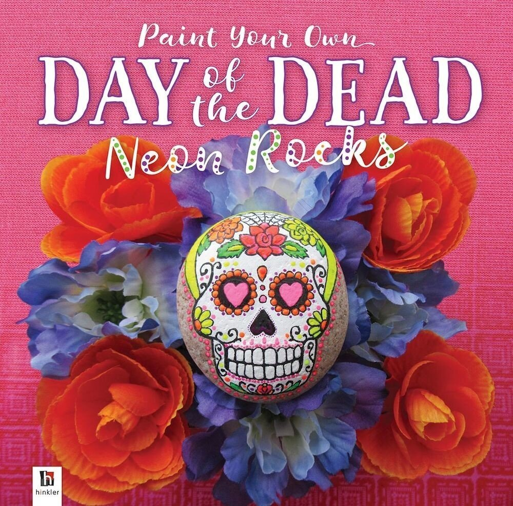 Day of the Dead Neon Painted Rocks (tuck box)