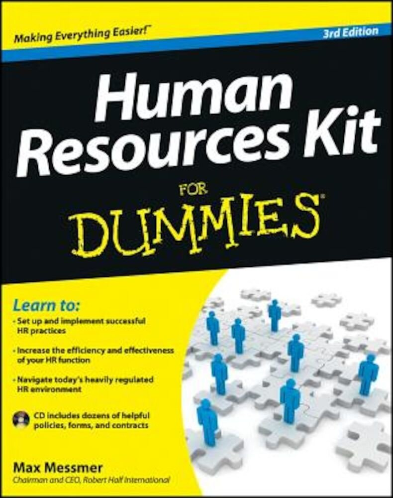 Human Resources Kit for Dummies [With CDROM], Paperback