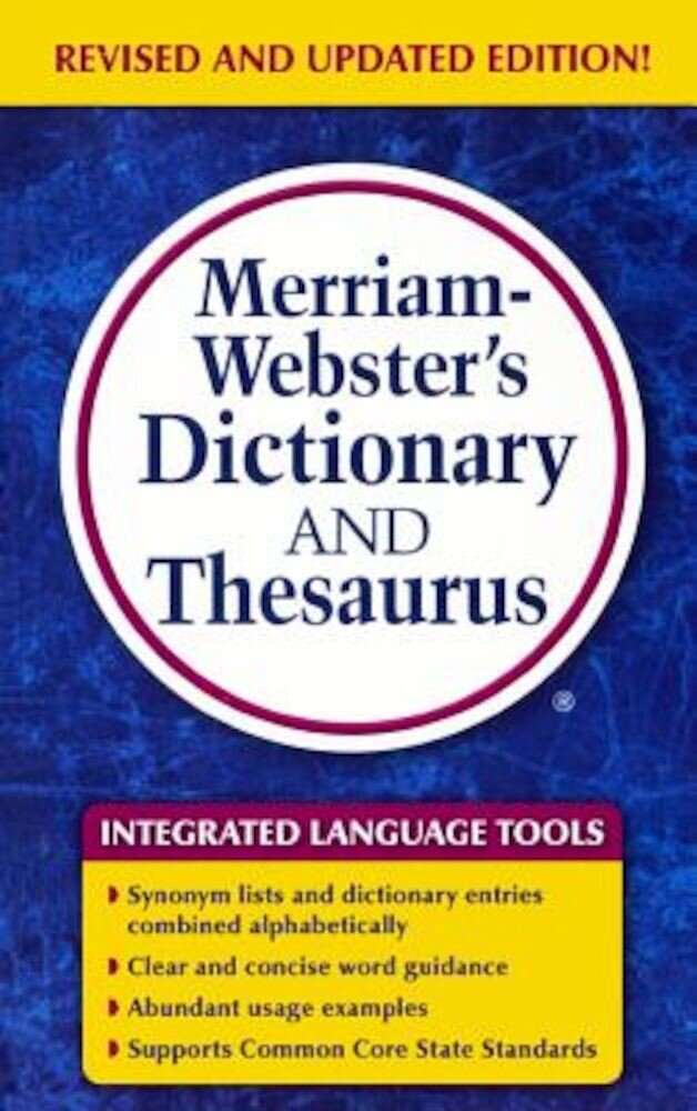 Merriam-Webster's Dictionary and Thesaurus, Hardcover