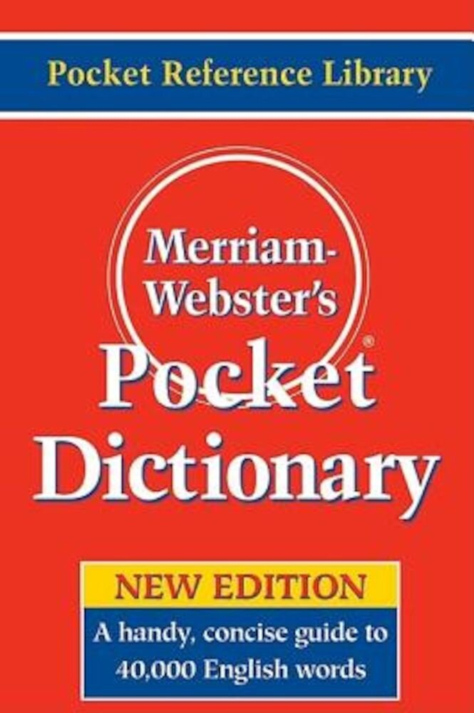 Merriam-Webster's Pocket Dictionary, Paperback