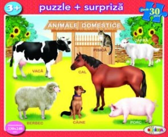 Coperta Carte Puzzle - Animale domestice (30 piese)