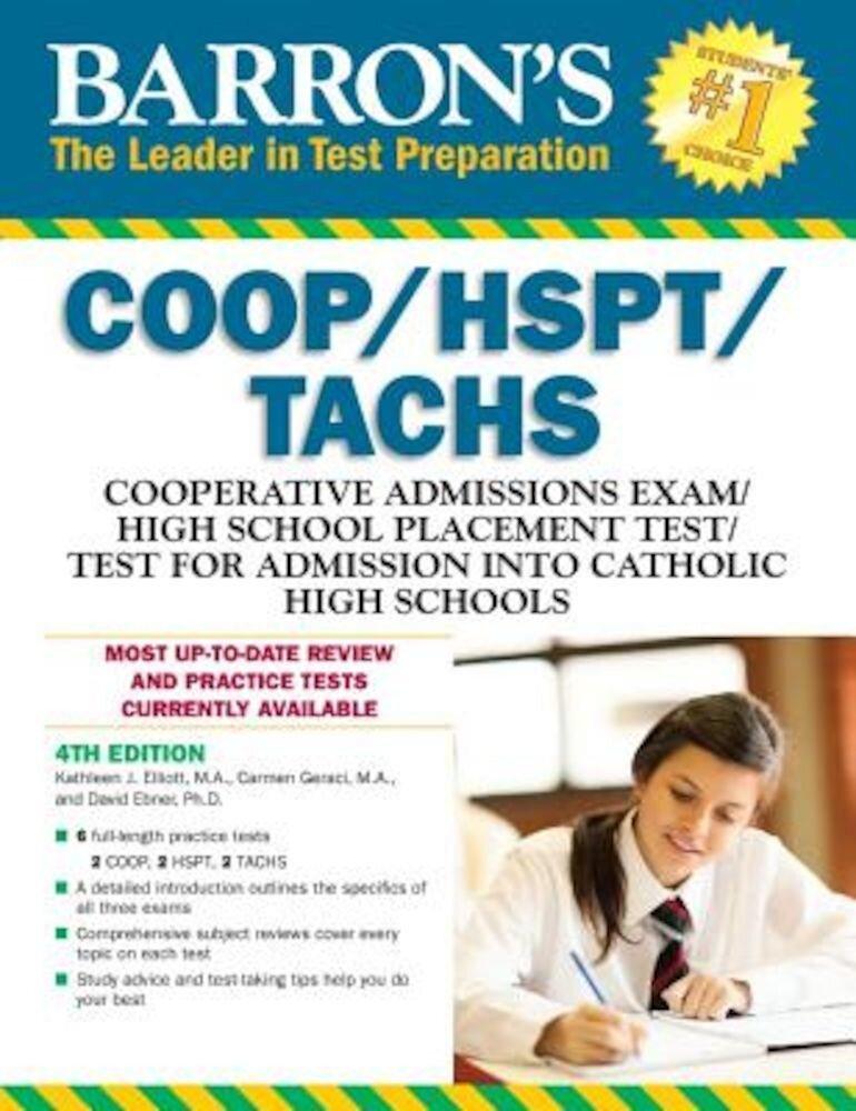 Barron's COOP/HSPT/Tachs, 4th Edition, Paperback