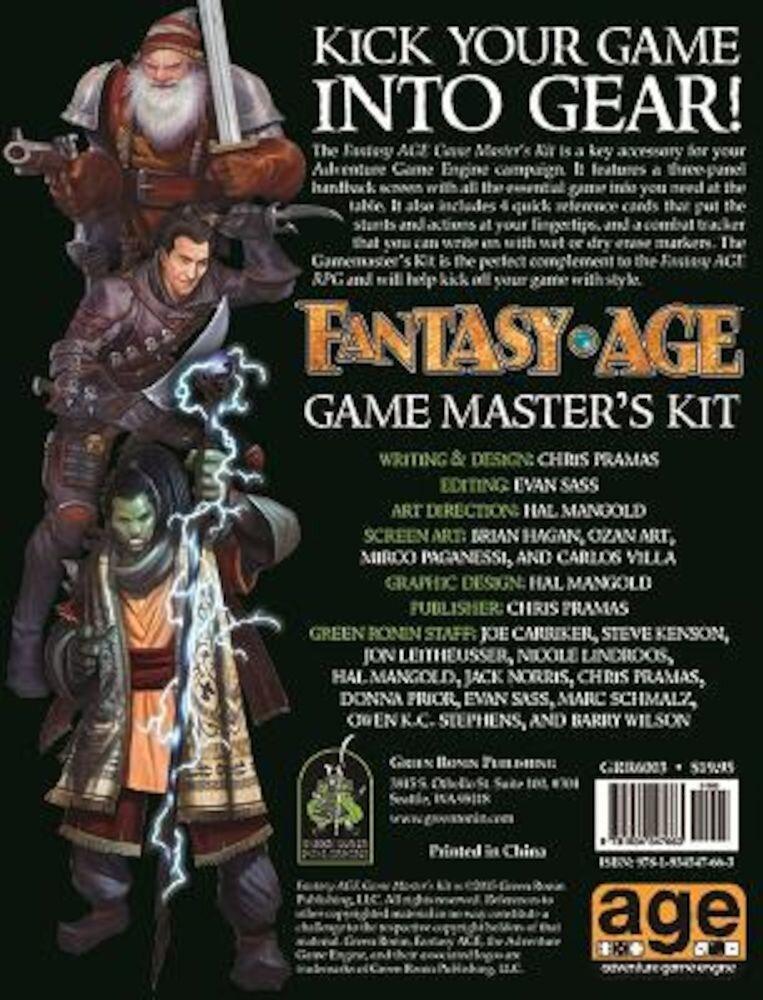 Fantasy Age Game Master's Kit, Hardcover