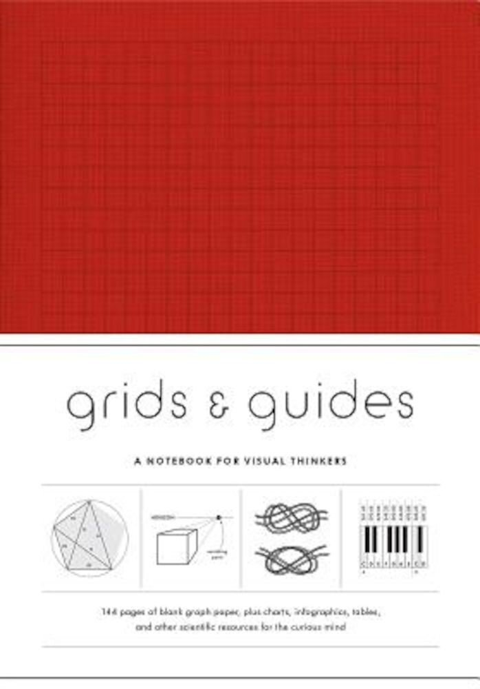 Grids & Guides (Red): A Notebook for Visual Thinkers, Hardcover