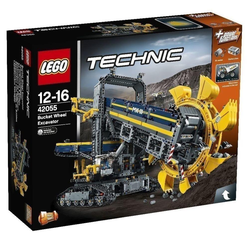 LEGO Technic 2 in 1, Excavator cu roata port cupe 42055