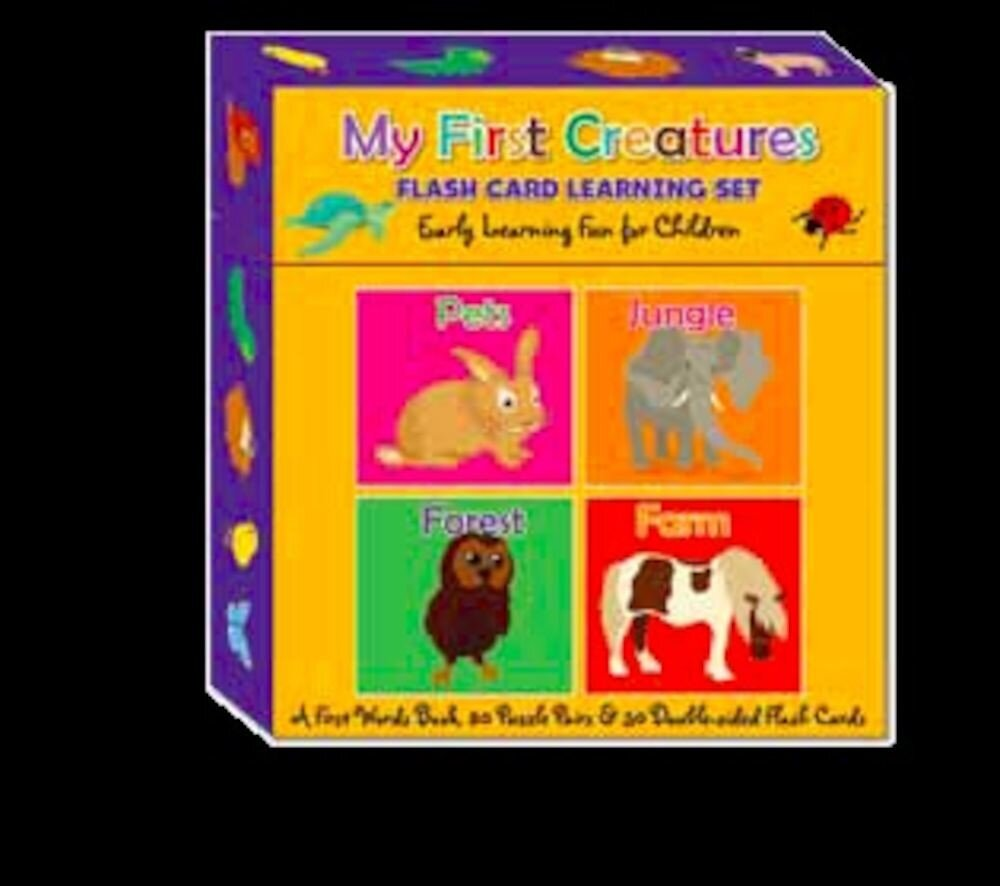 Flash card learning set - my first creatures (ctn qty 12)
