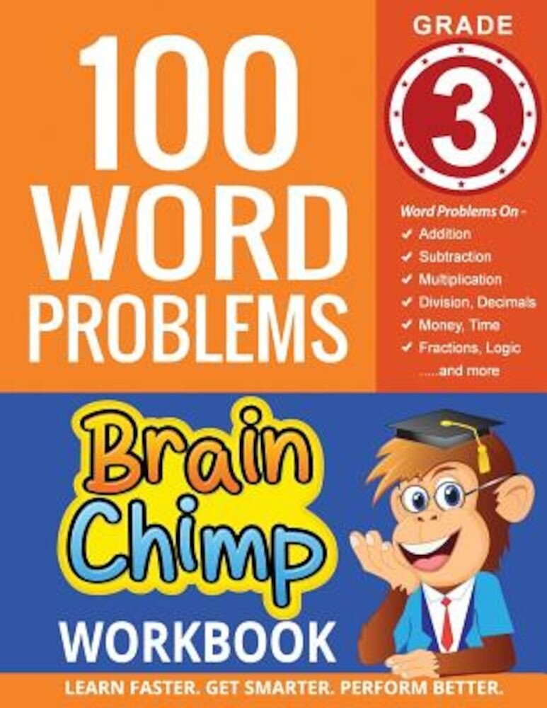 100 Word Problems: Grade 3 Math Workbook, Paperback