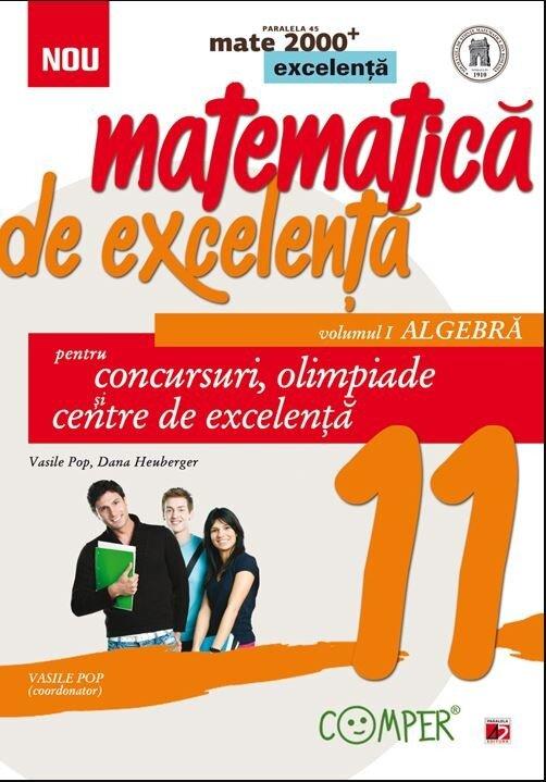 Coperta Carte Mate Excelenta cls. XI Algebra Ed. 2