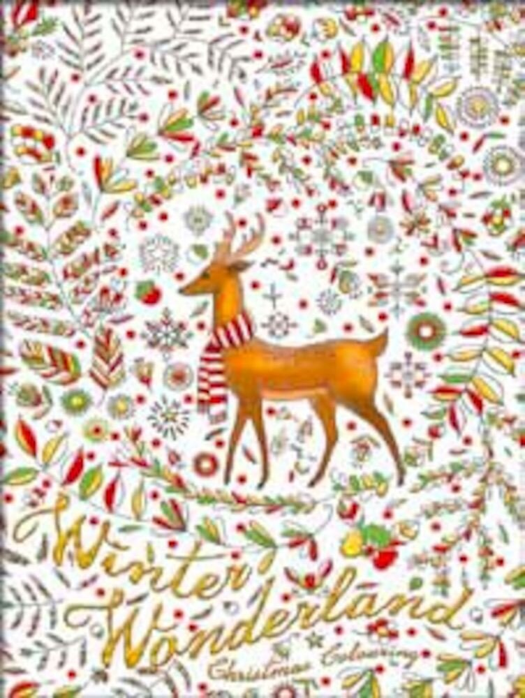 Christmas adult colouring book - winter wonderland