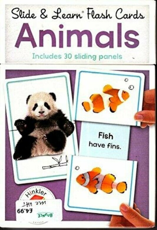 Building Blocks Slide & Learn Flashcards Animals (UK Eng)