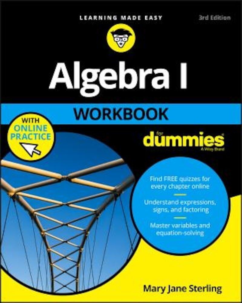 Algebra I Workbook for Dummies, Paperback
