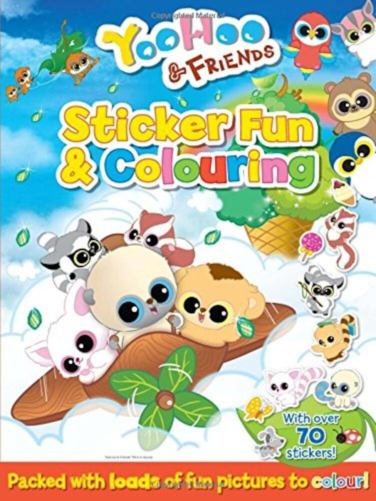 Coperta Carte Yoohoo & Friends Sticker Fun Colouring