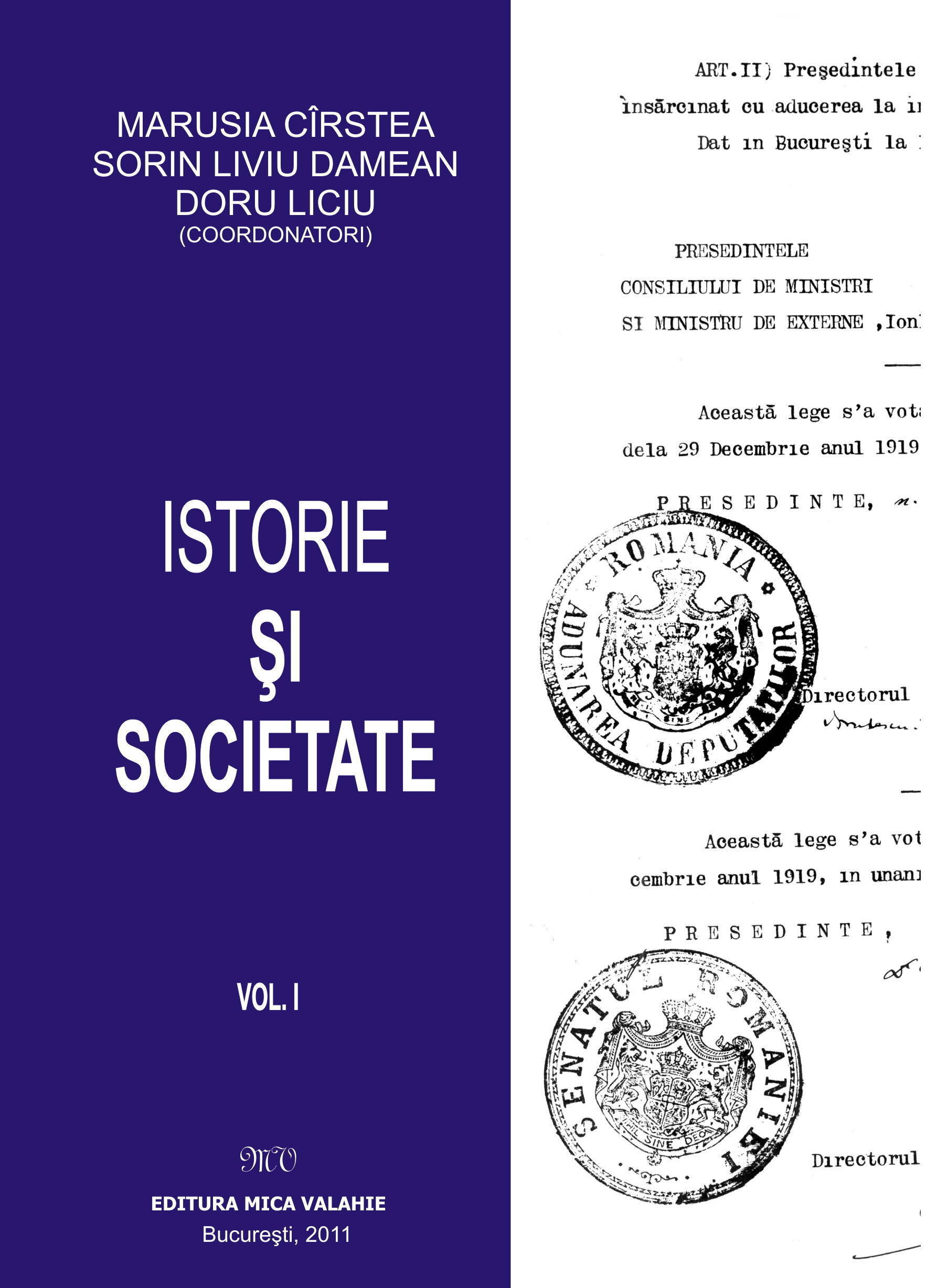 Istorie si societate - vol. I (eBook)