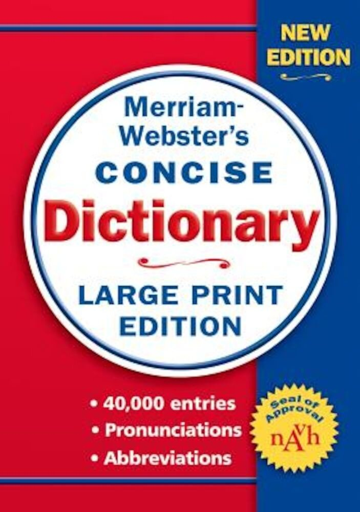 Merriam-Webster Concise Dictionary, Paperback