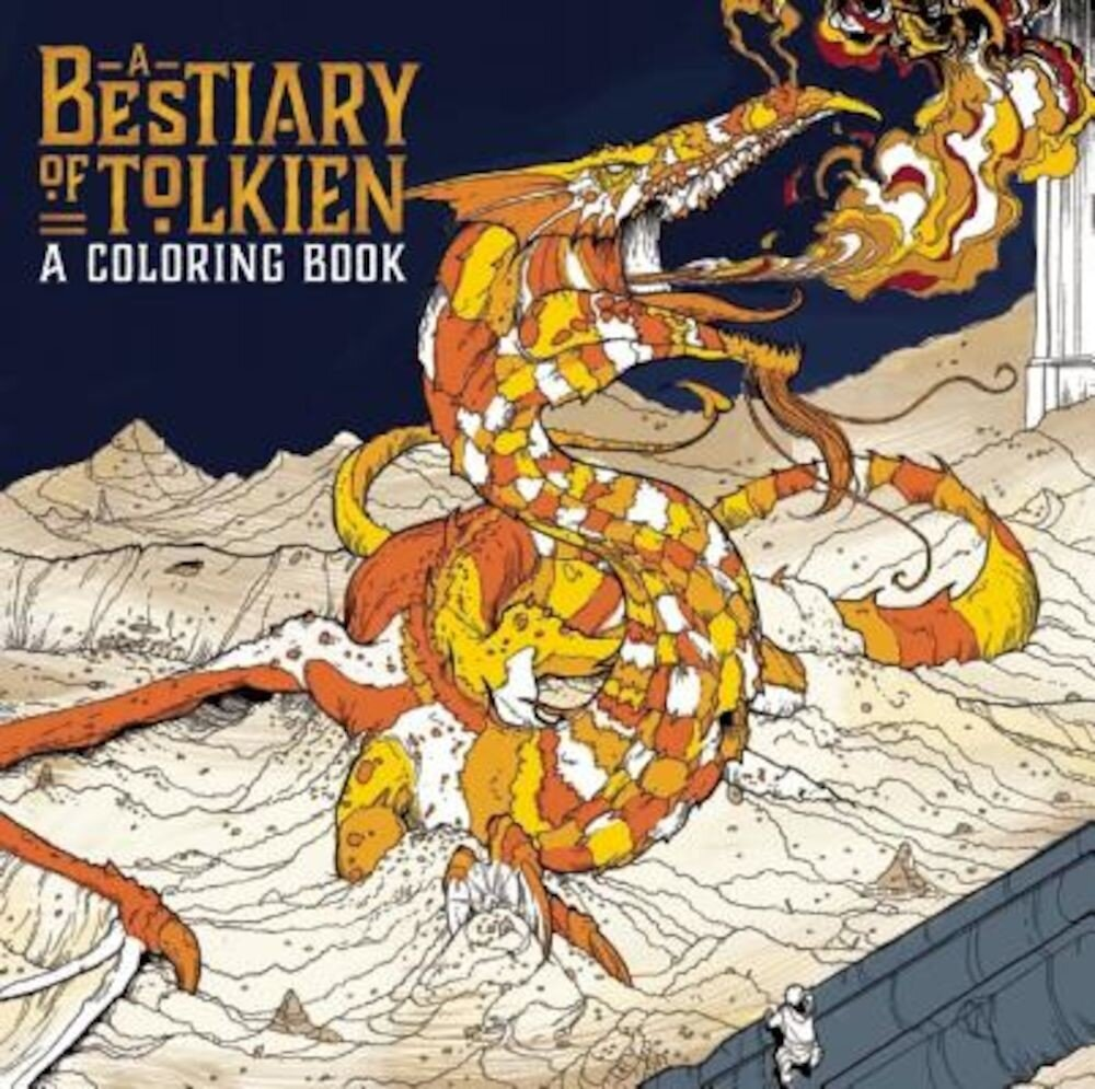 A Bestiary of Tolkien Coloring, Paperback