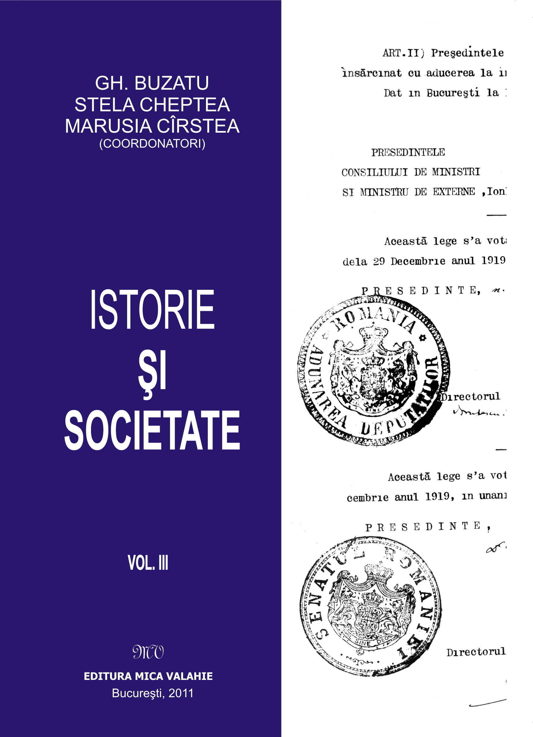 Istorie si societate - vol. III (eBook)