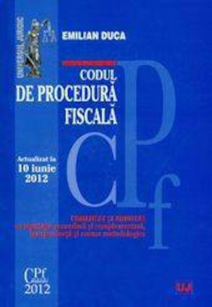 Coperta Carte Codul de procedura fiscala. Actualizat la 10 iunie 2012