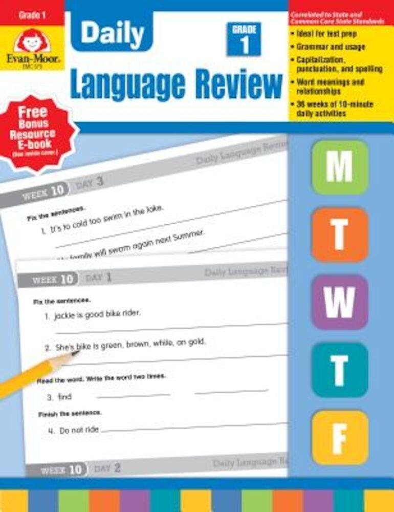 Daily Language Review Grade 1, Paperback