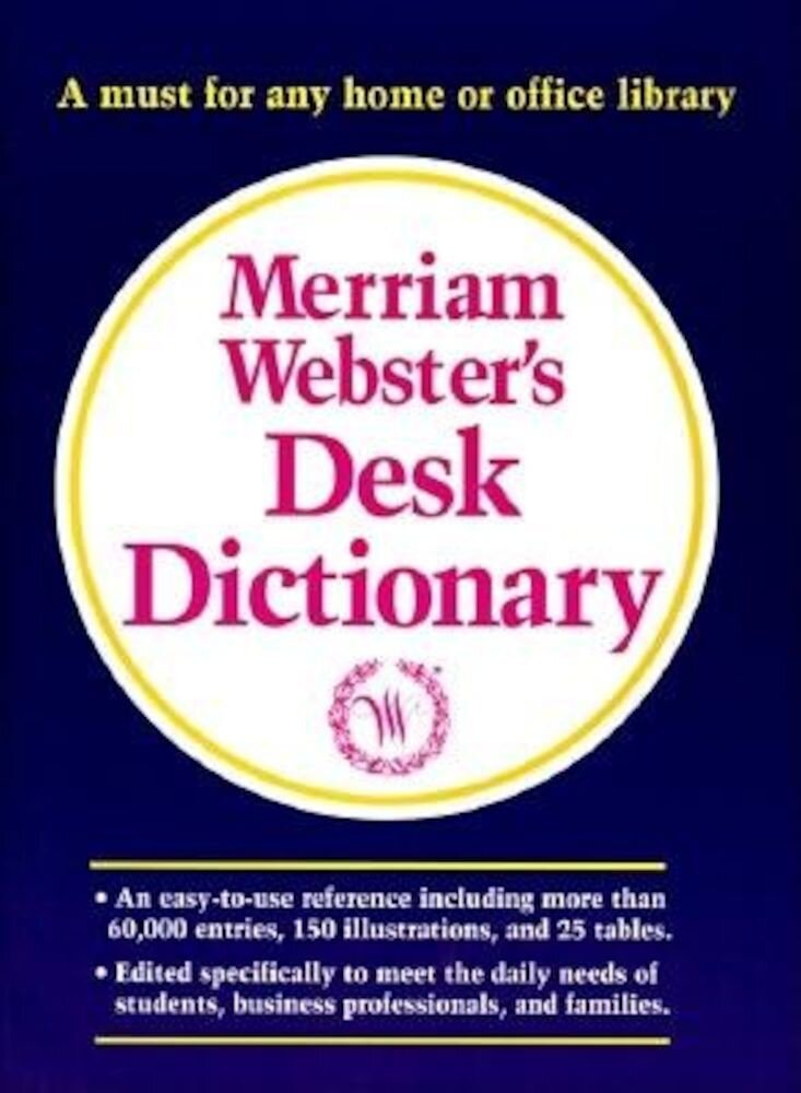 Merriam-Webster's Desk Dictionary, Hardcover