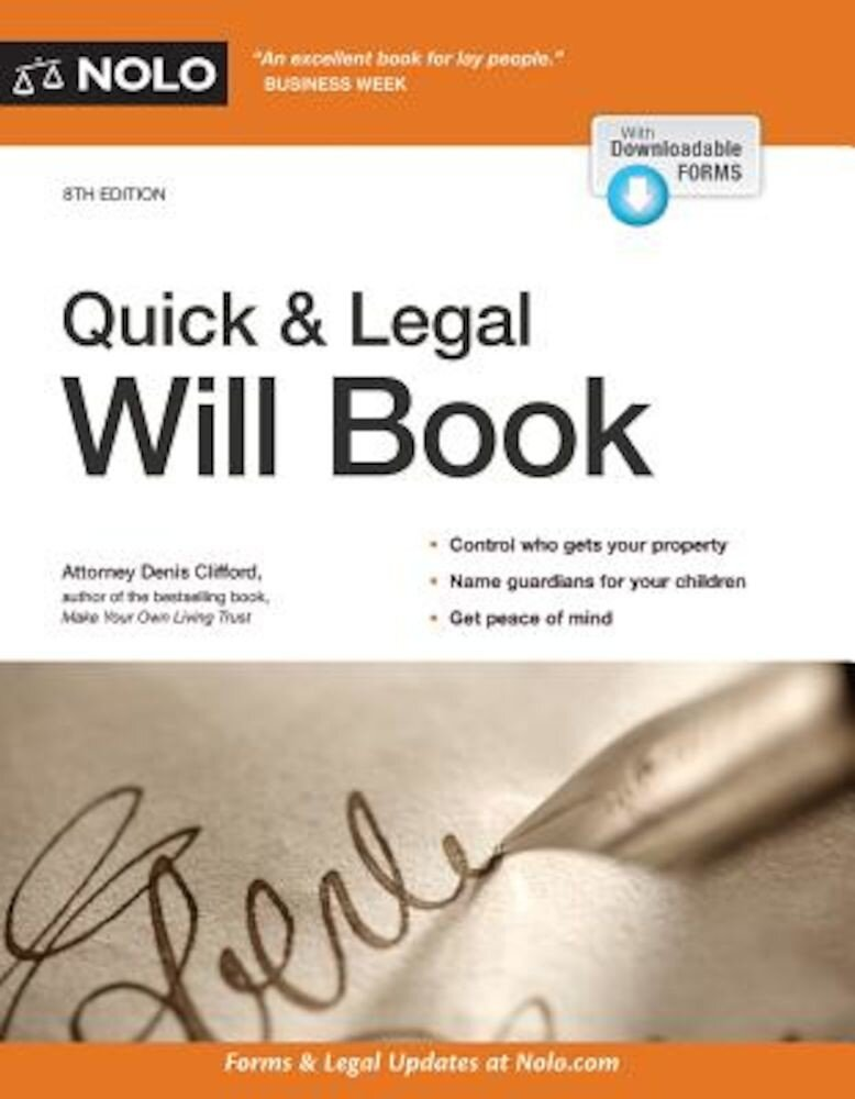 Quick & Legal Will Book, Paperback