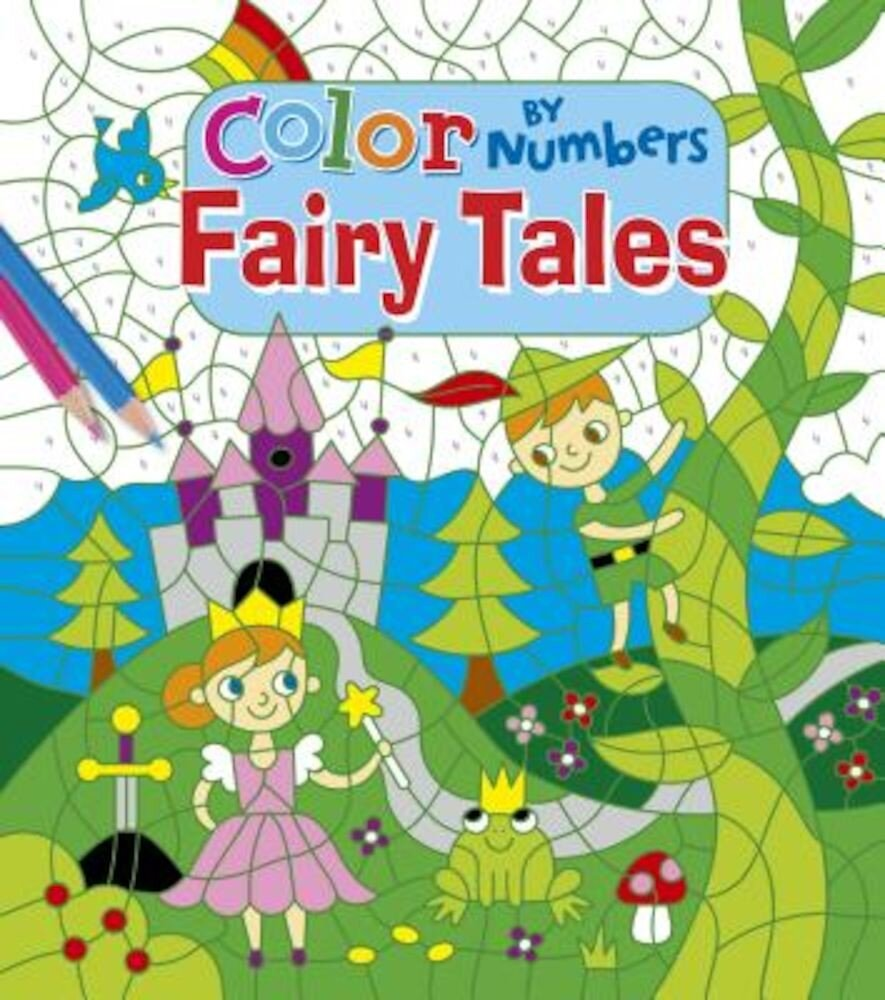Color by Number Fairytales, Paperback