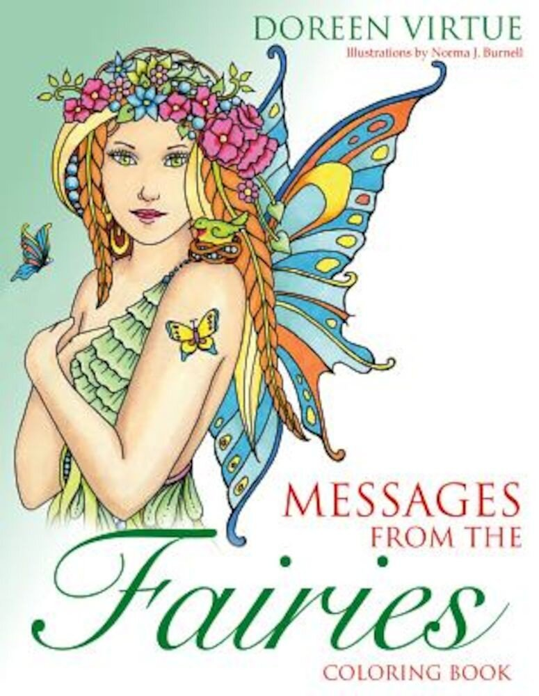 Messages from the Fairies Coloring Book, Paperback