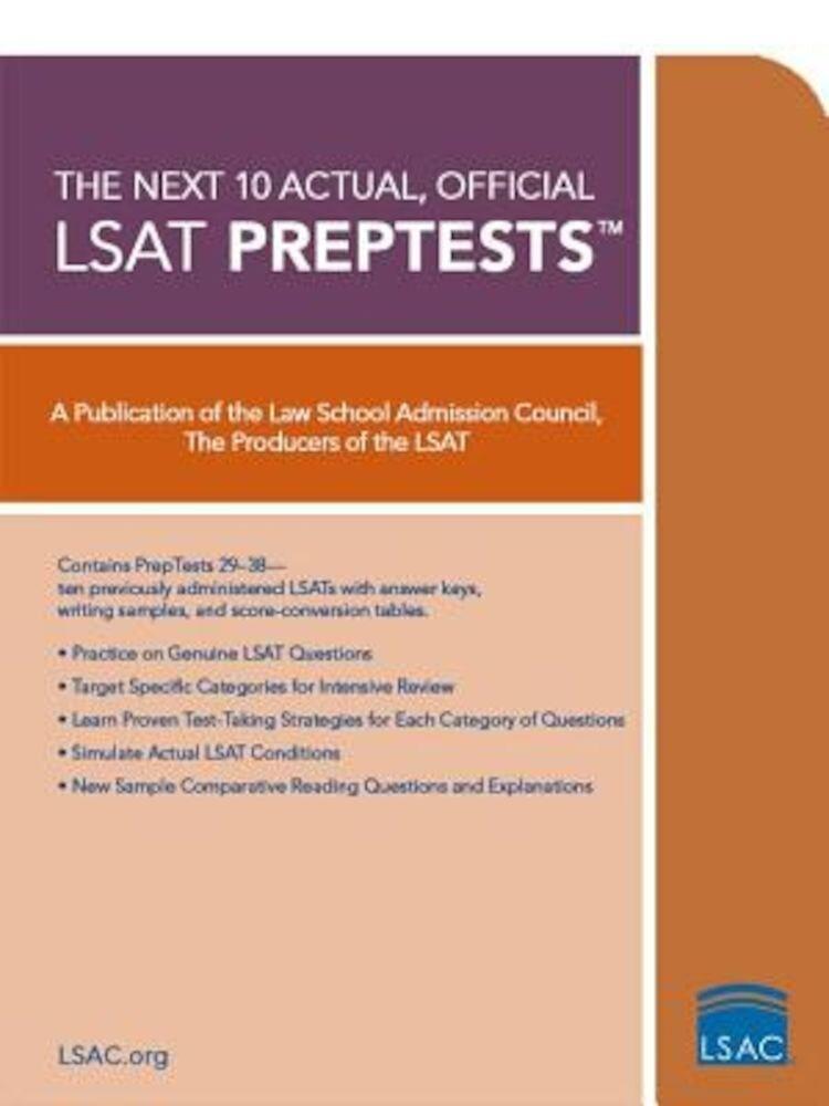 The Next 10 Actual, Official LSAT Preptests, Paperback