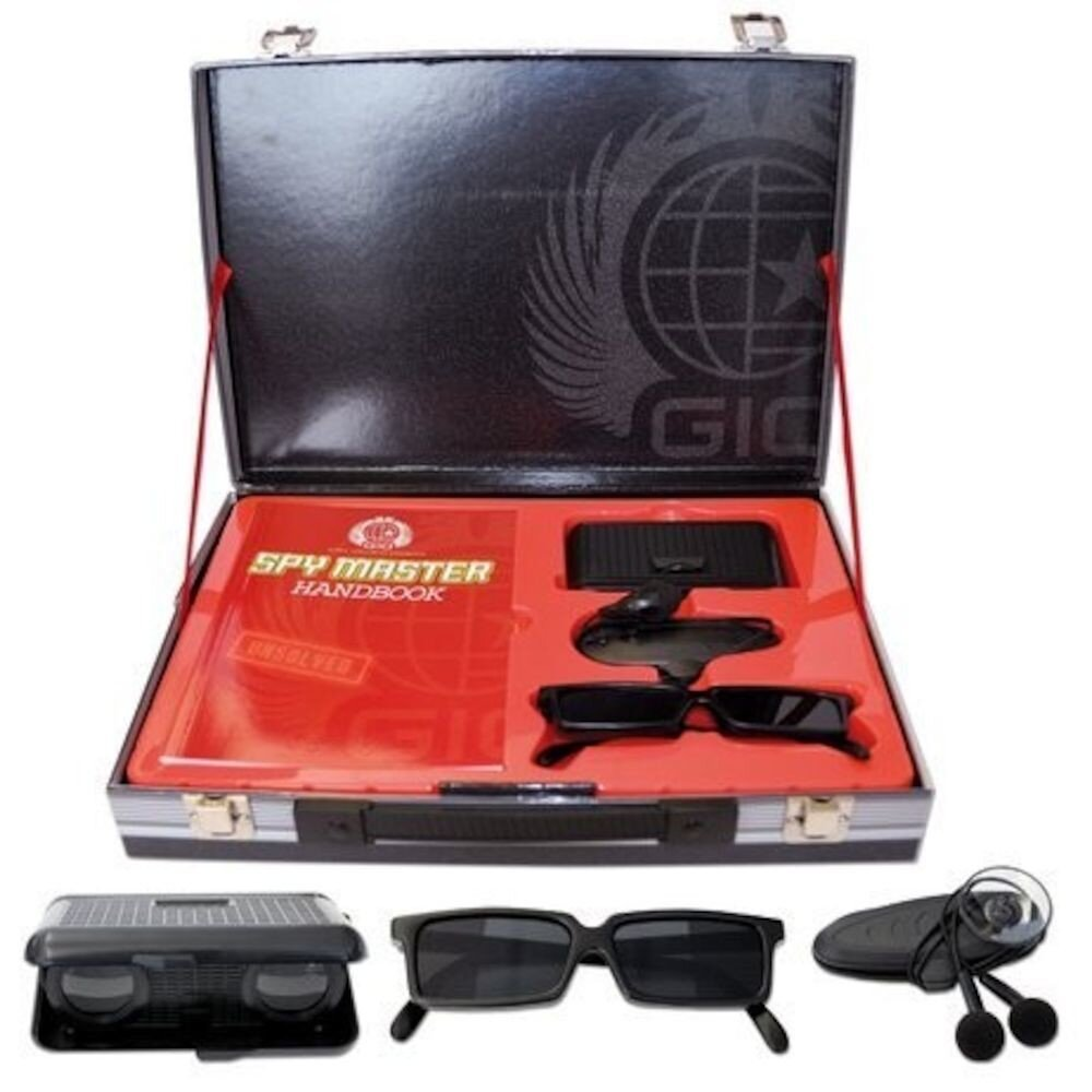 Spy Master Briefcase. Black Spy kit