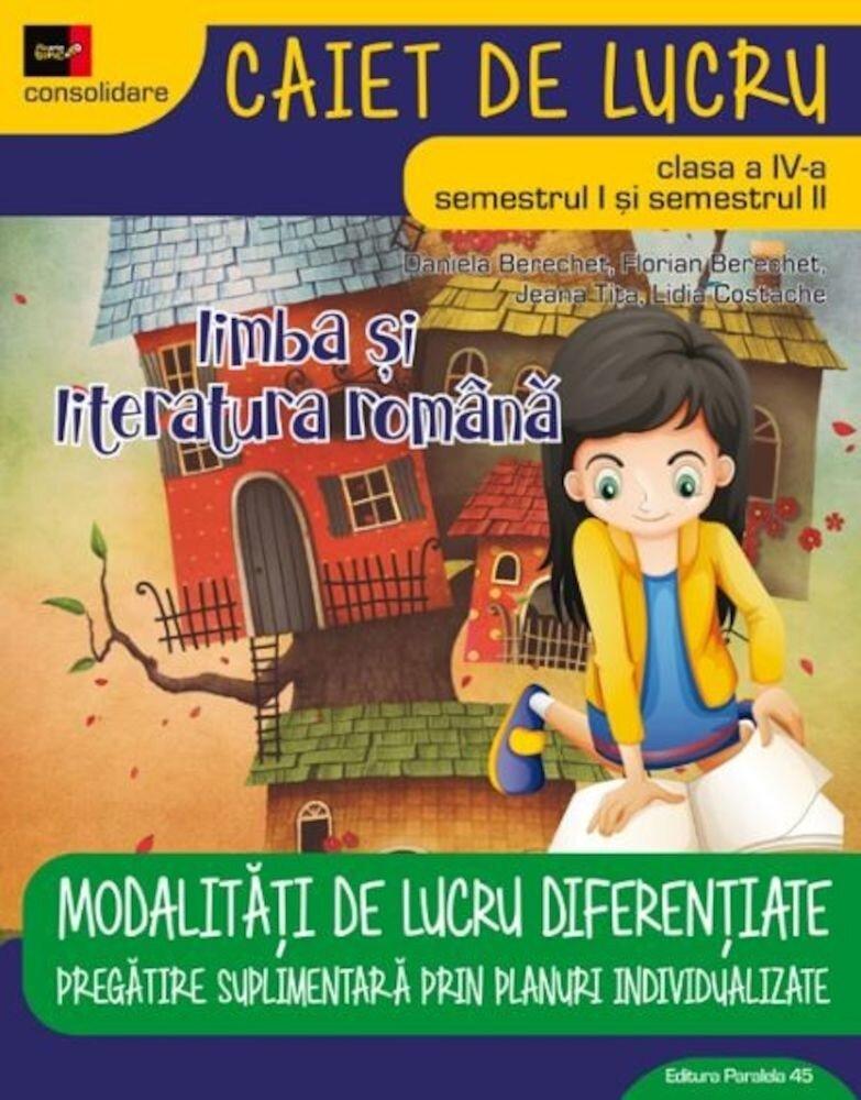 Coperta Carte Limba si Literatura Romana. Cls. IV. Ed. 2. 2017-2018