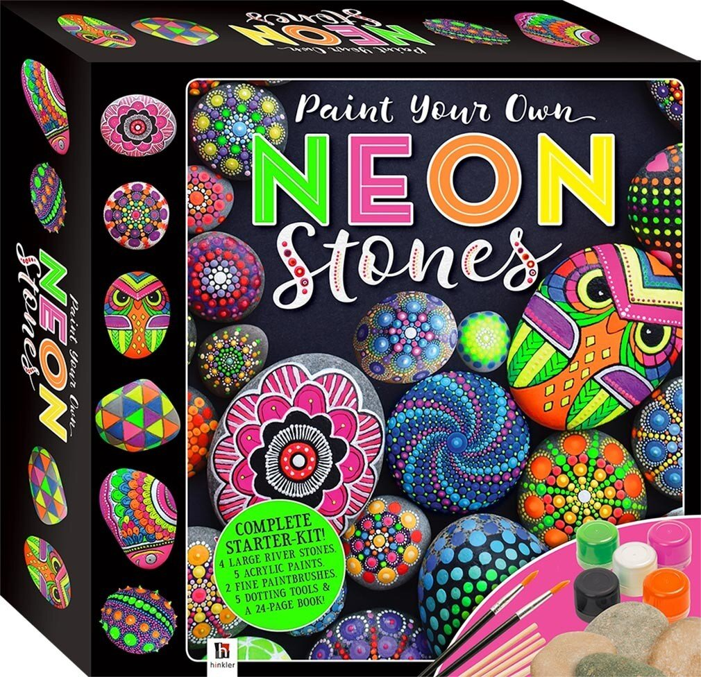 Paint Your Own Neon Stones (Tuck Box)