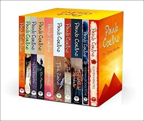 Paulo Coelho 10 book collection pack set: The Pilgrimage, the Valkyries, The Fifth Mountain, by the river, Veronika Decides to Die, Eleven Minutes, The Devil and Miss Prym, The Zahir, The Witch of Por