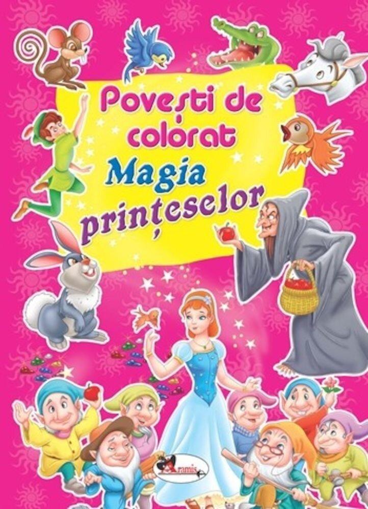 Coperta Carte Povesti de colorat. Magia printeselor