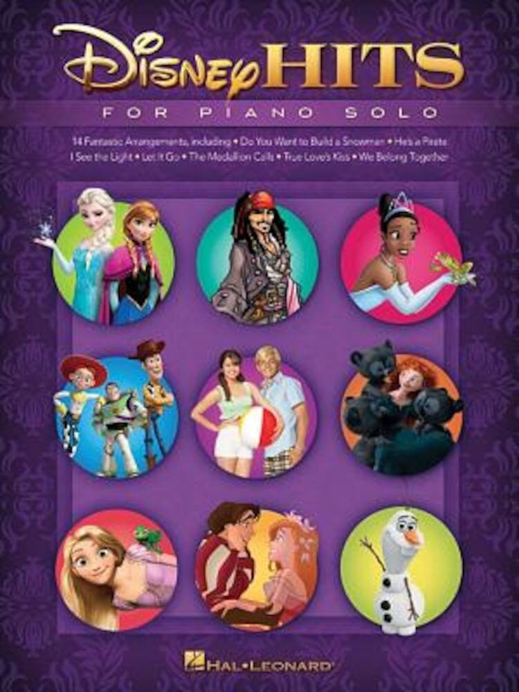 Disney Hits for Piano Solo, Paperback