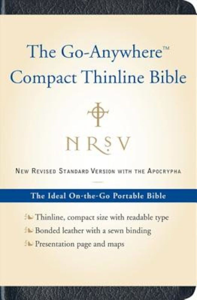 Go-Anywhere Compact Thinline Bible-NRSV-With Apocrypha, Hardcover