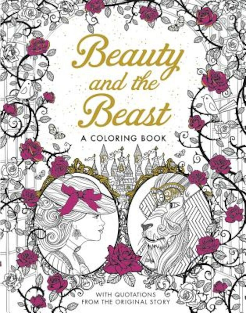 Beauty and the Beast: A Coloring Book, Paperback