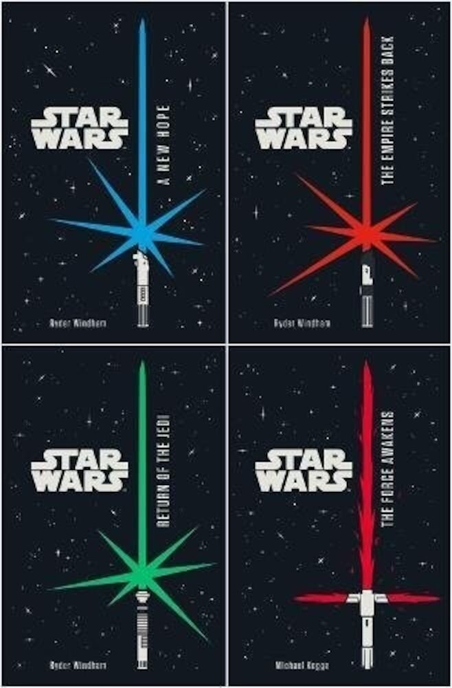 Star Wars 4 Books Set Junior Novel Collection - New Hope, Jedi, Empire, Force