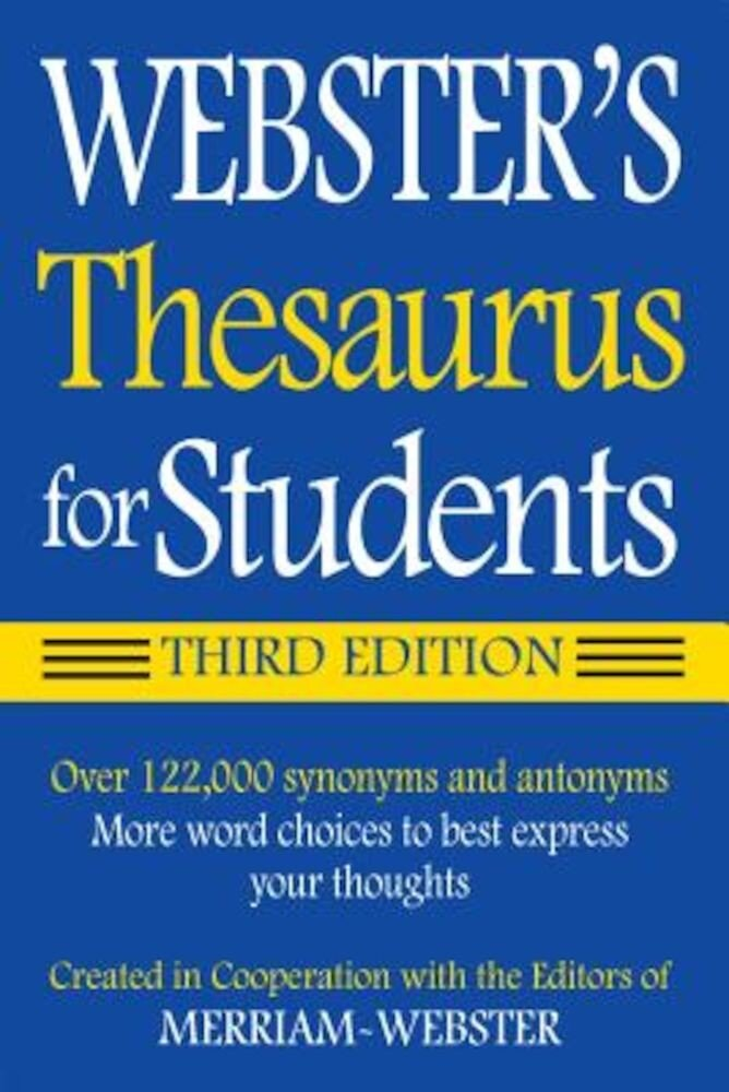Webster's Thesaurus for Students, Paperback