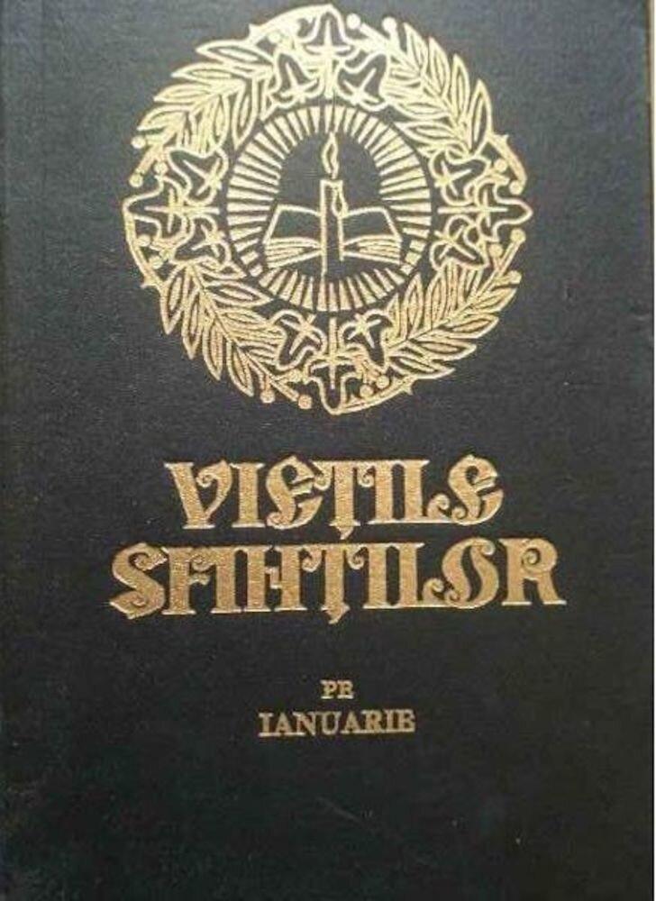 Coperta Carte Vietile sfintilor pe ianuarie