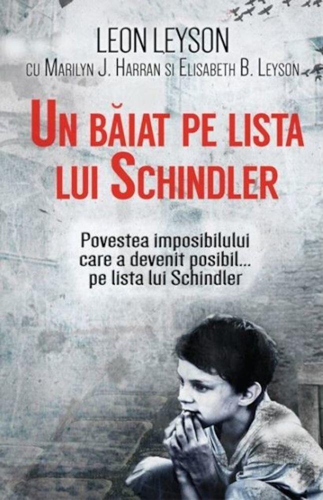 Coperta Carte Un baiat pe lista lui Schindler
