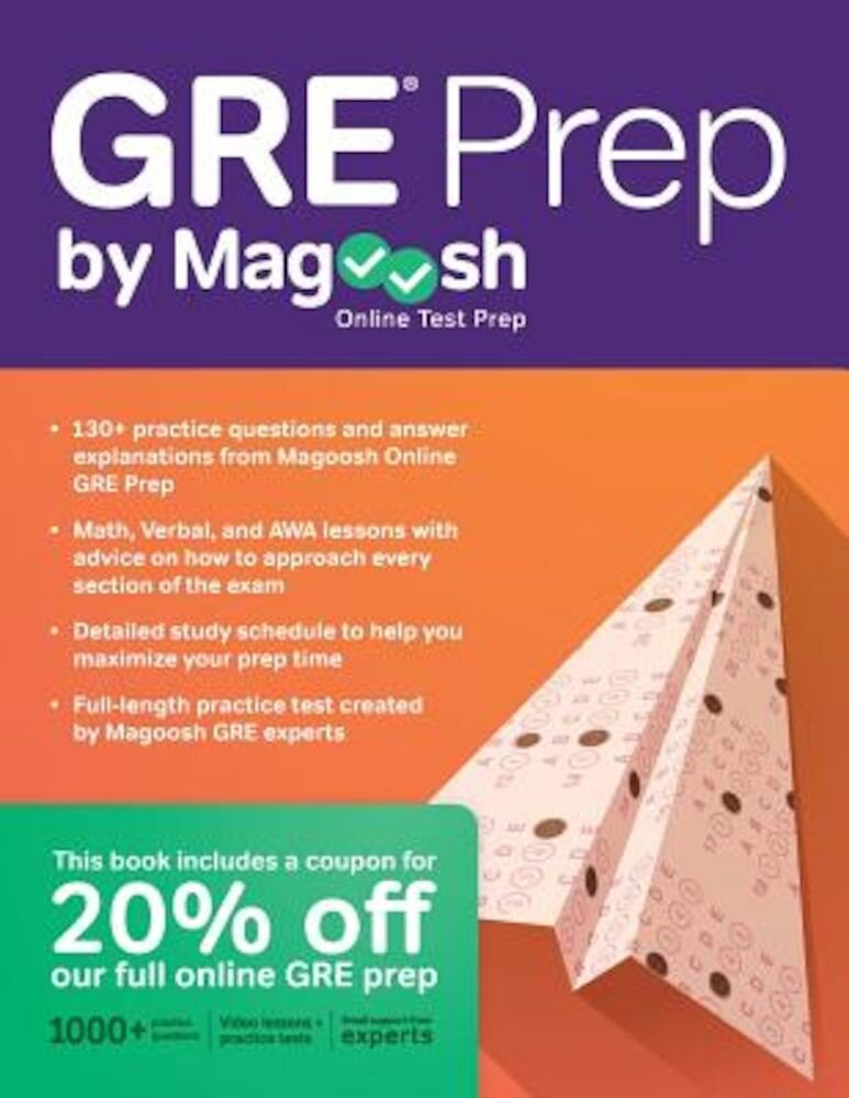 GRE Prep by Magoosh, Paperback