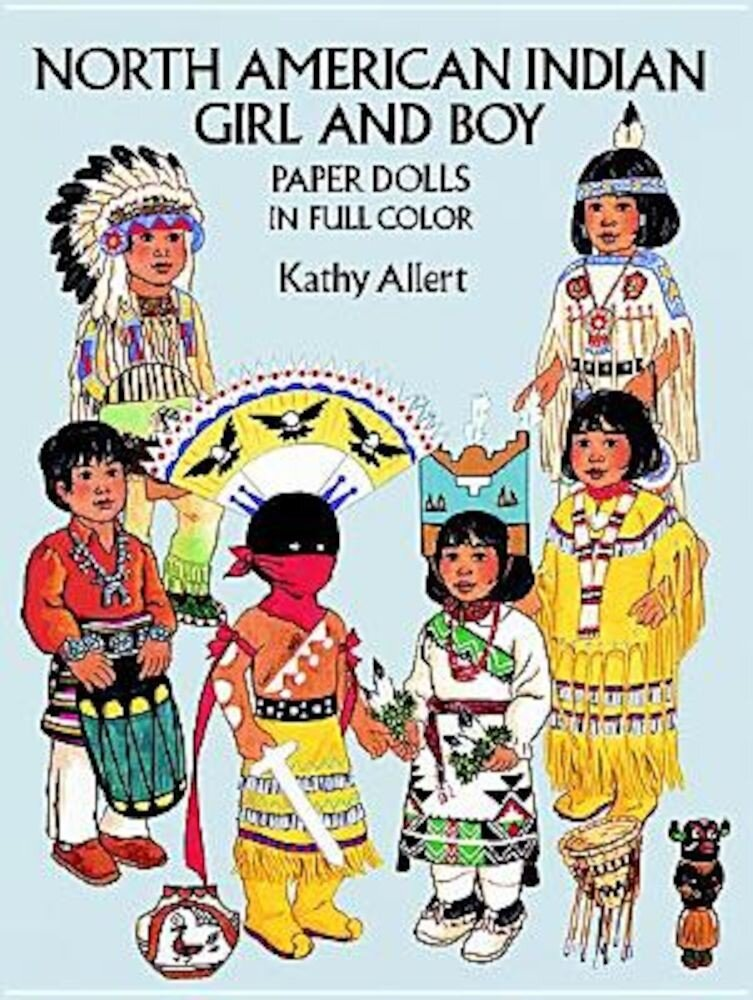 North American Indian Girl and Boy Paper Dolls, Paperback