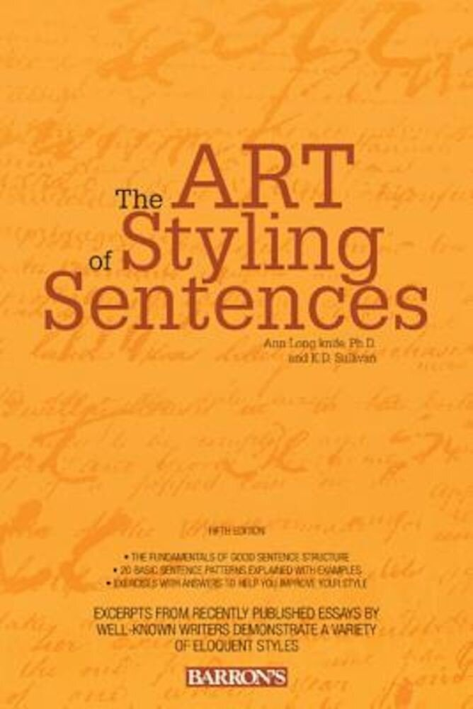 The Art of Styling Sentences, Paperback