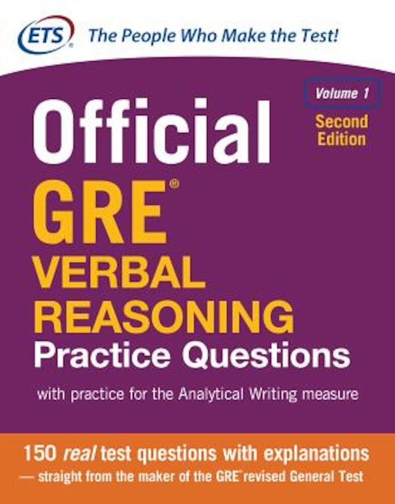 Official GRE Verbal Reasoning Practice Questions, Second Edition, Volume 1, Paperback