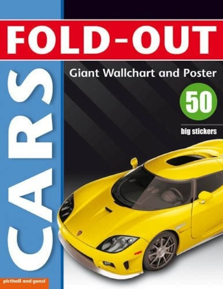 Fold-Out Poster Sticker Cars