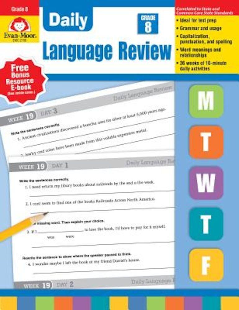 Daily Language Review, Grade 8, Paperback