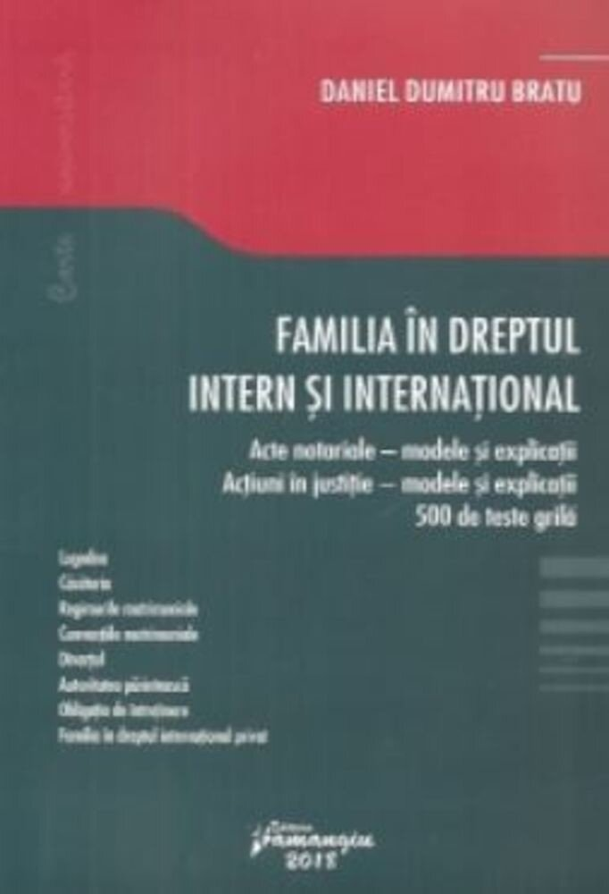 Familia in dreptul intern si international
