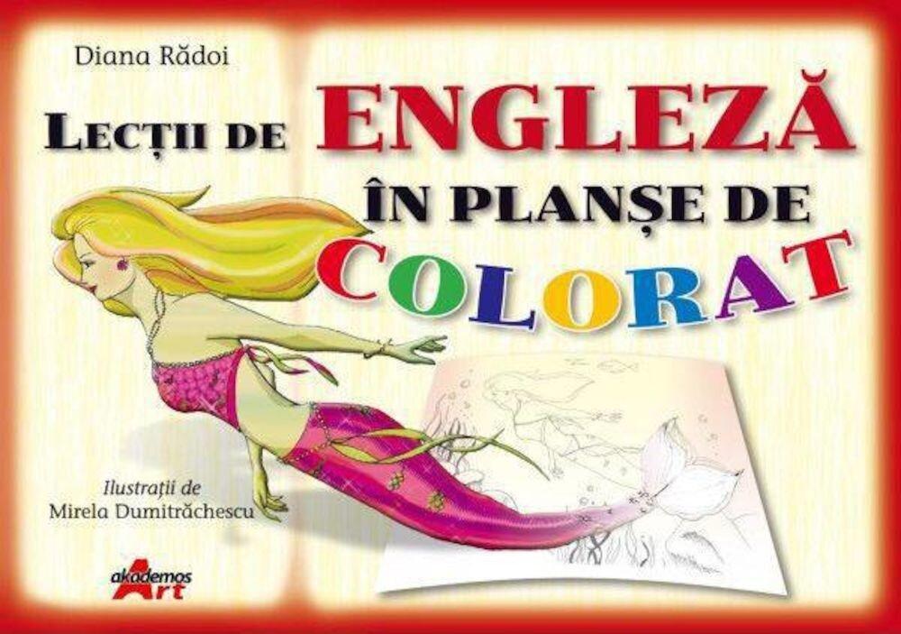 Lectii de engleza in planse de colorat