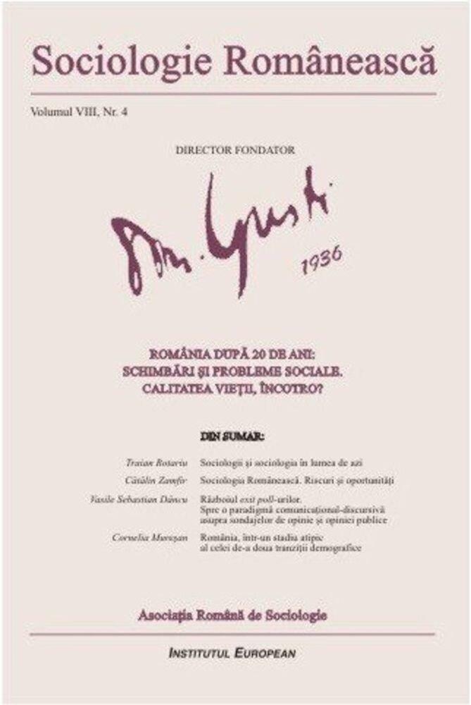 Sociologie Romaneasca. Vol. VIII, Nr. 4