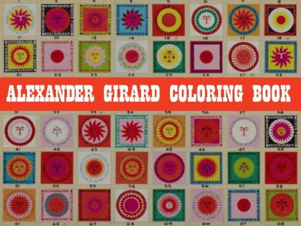 Alexander Girard Coloring Book, Paperback